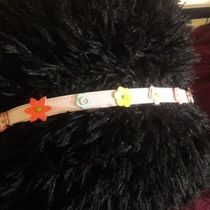 Girls flowered belt